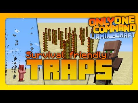 Minecraft - Traps | Only One Command! | No Mods! (Vanilla