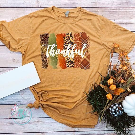 Thankful Brushstroke Fall Shirt Leopard Print Etsy In 2020 Thankful Shirt Fall Shirts Fall Graphic