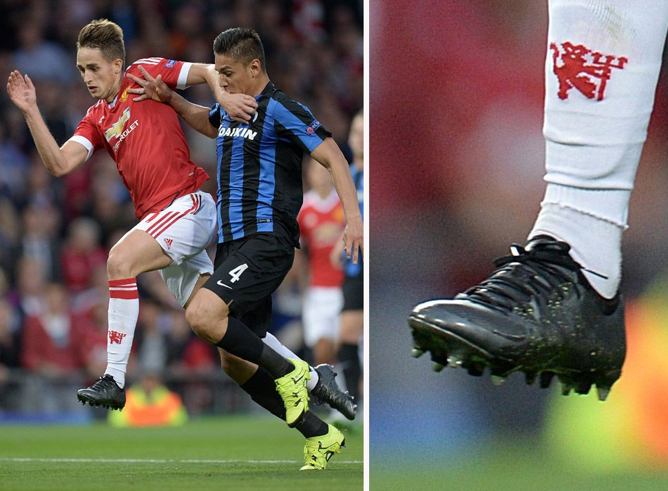 In this image, people expected Januzaj (red shirt) wearing New Balance. But  he's wearing Adidas instead.