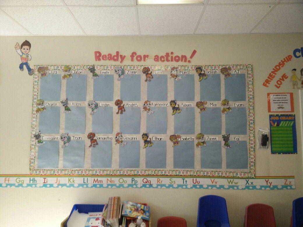 Paw Patrol Bulletin Board Preschool Classroom Decor