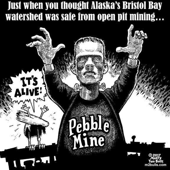 5/17/2017 | Political cartoons, Pebble mine, Bristol bay