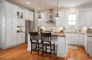Grove Arch Maple Linen   Eclectic   Kitchen Cabinets   Other Metro   By Shenandoah  Cabinetry