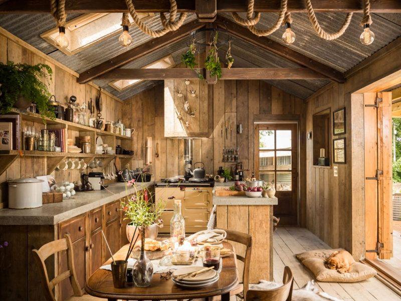 Una cabaña de cuento muy rústica | Rústico, Para enamorarte y Cabaña ...