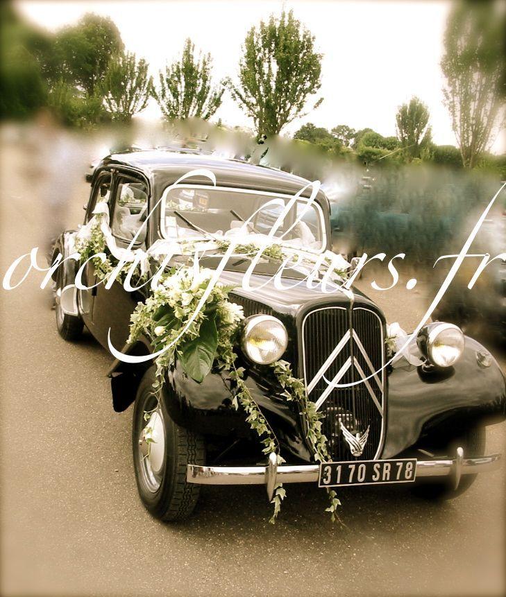 D coration de voiture fleuriste bois d 39 arcy d coration voiture mariage pinterest - Fleuriste decoration voiture mariage ...