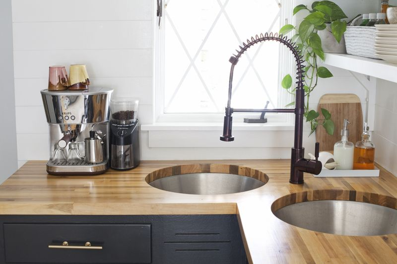 Installing Butcher Block Counters with an Undermount Sink DIY Projects: Home Decor + Design ...