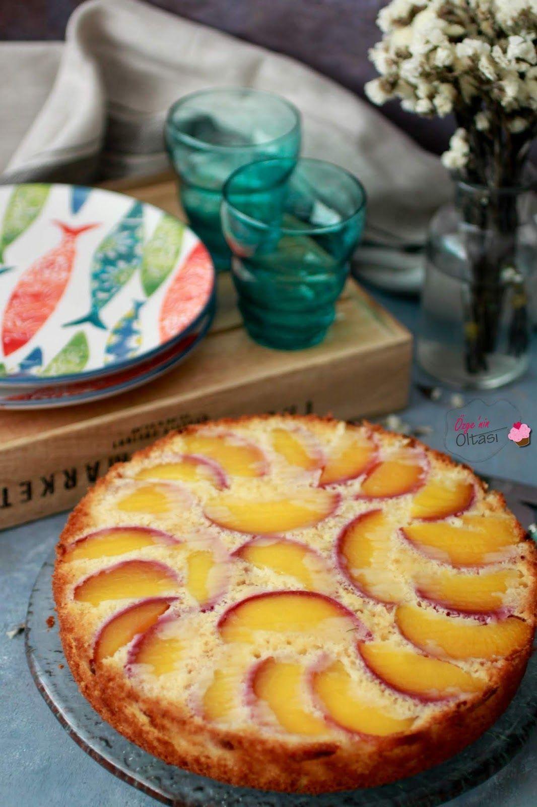 Şeftalili Altüst Kek #cheesecakes