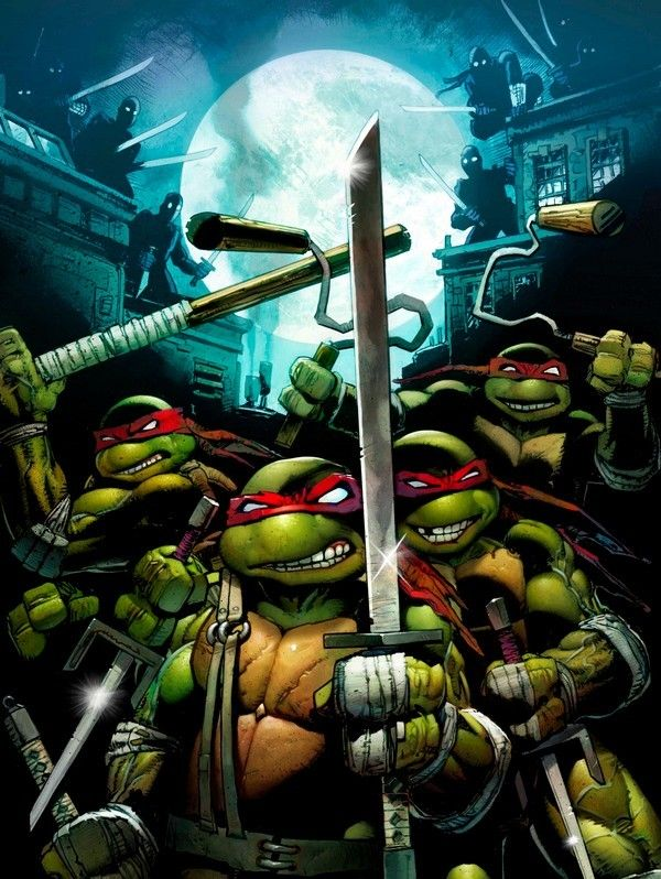 Ninja Turtles Wallpaper For Android With A Bright Color