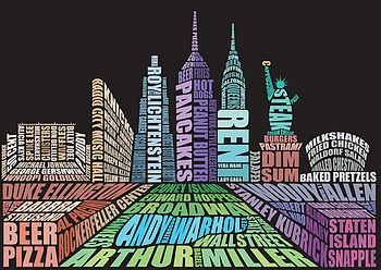 I heart New York type print