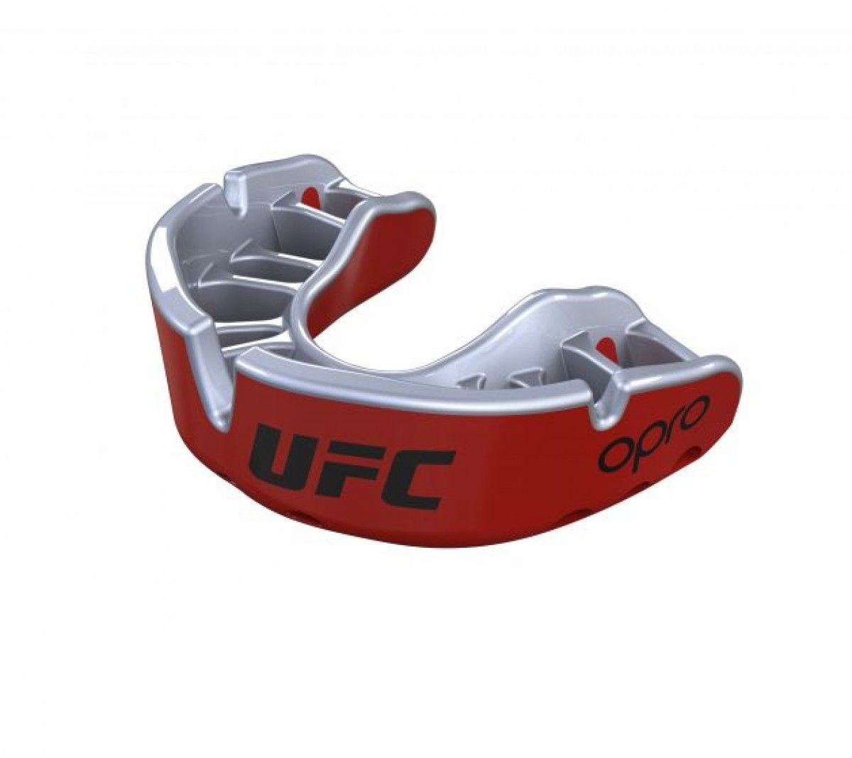 Black Metal//Red UFC Mouthguard OPRO Self-Fit MMA Martial Arts Platinum Fangz