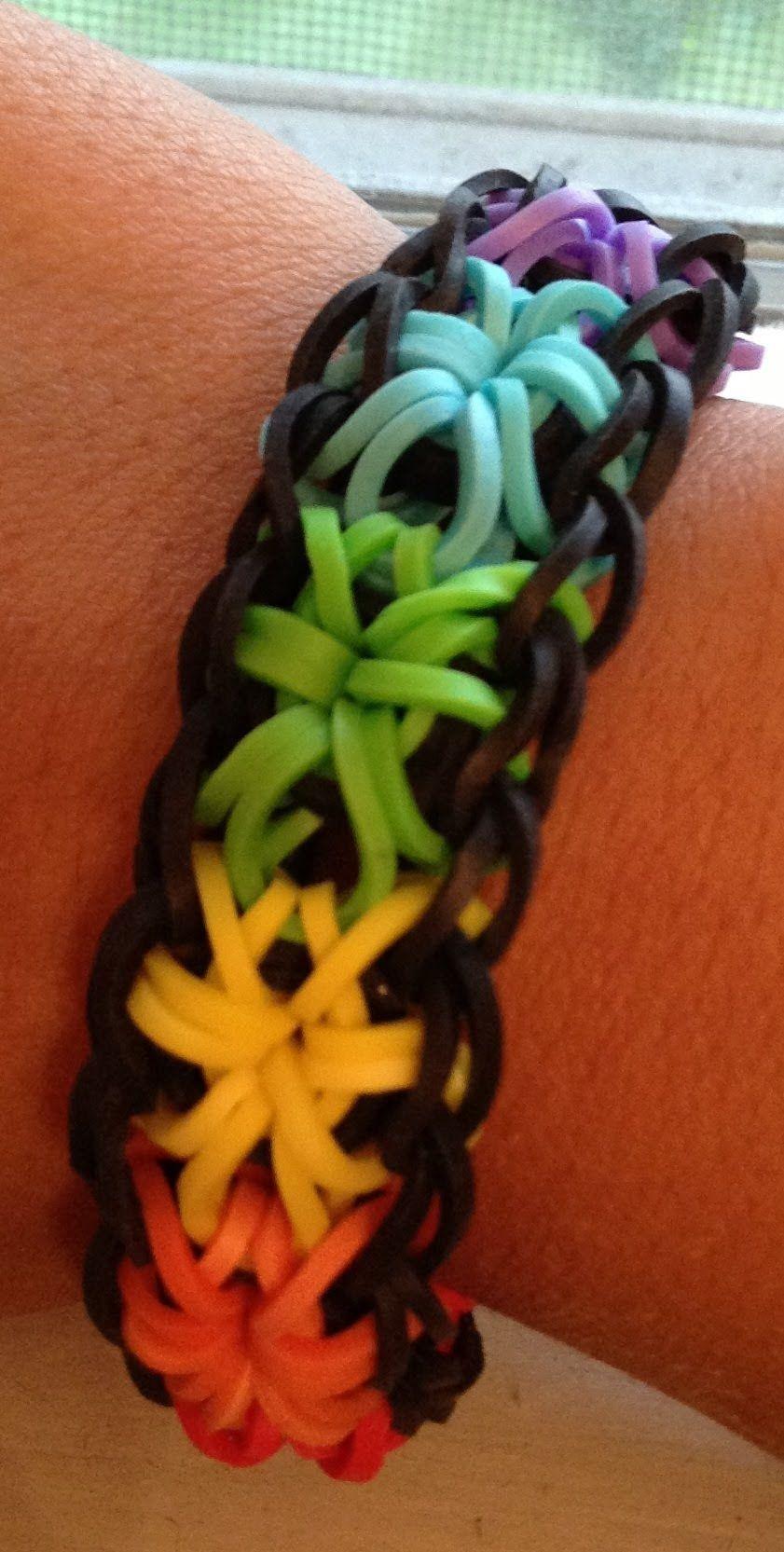 Rainbow Loom Rubber Band Bracelet Pick or Custom Made Starburst