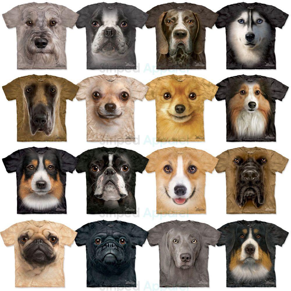 The Mountain Dog Face T Shirt S 3xl Pug Husky Corgi Sheltie