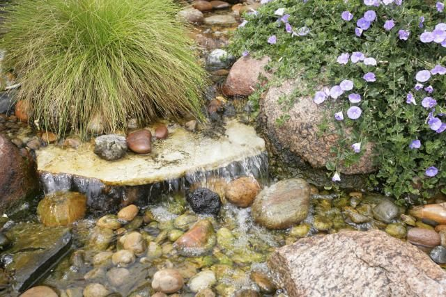 how to build a simple pond waterfall