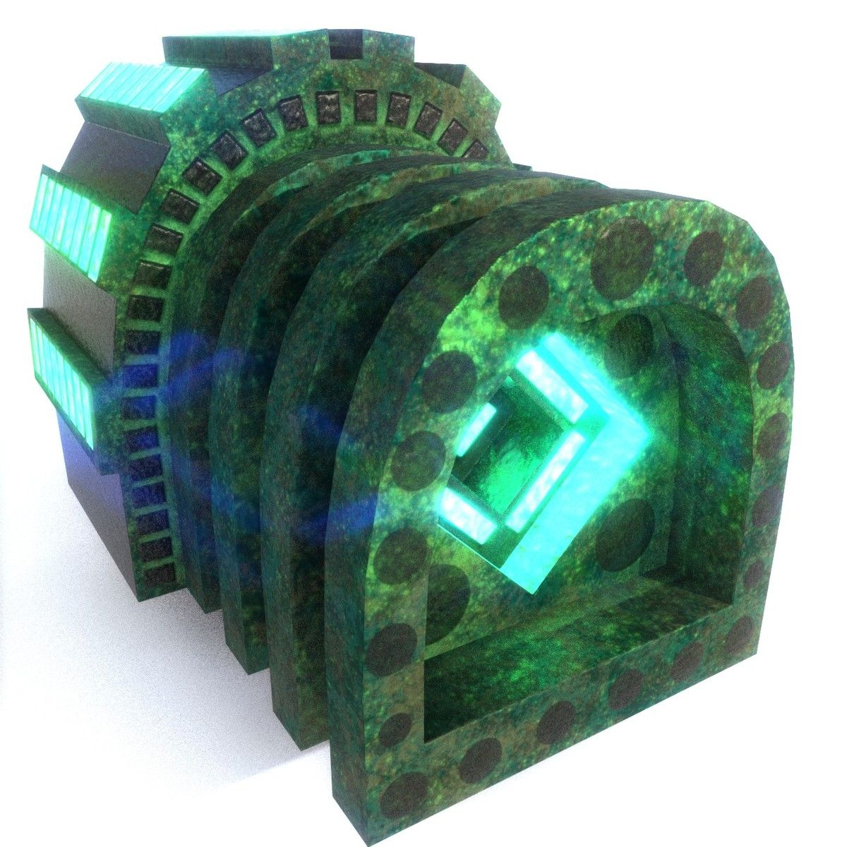 Emissive Factory 3D Obj - 3D Model