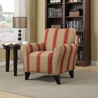 Portfolio Seth Red Stripe Curved Back Arm Chair | Overstock.com Shopping - Great Deals on PORTFOLIO Chairs