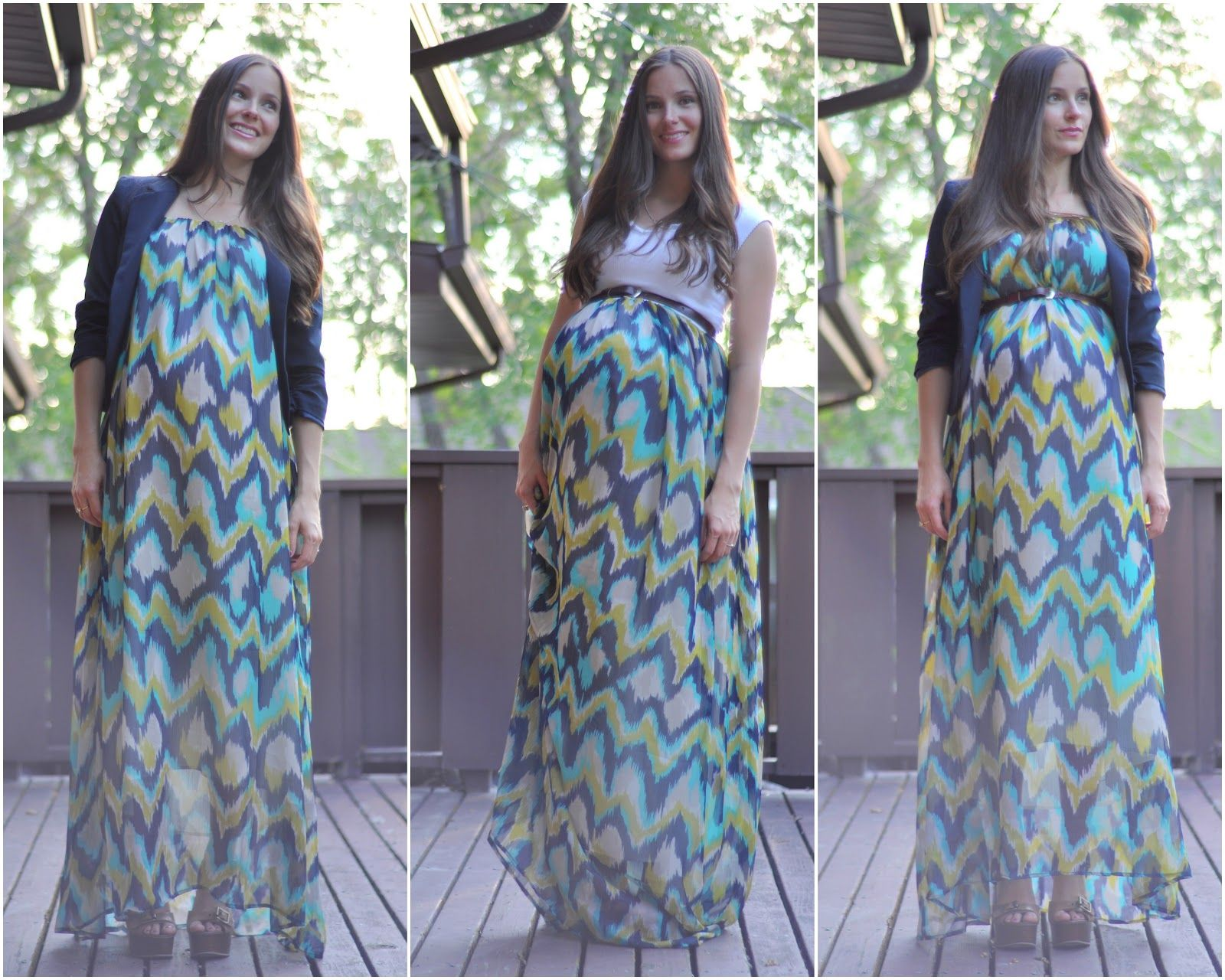 Pattern for maternity maxi dress