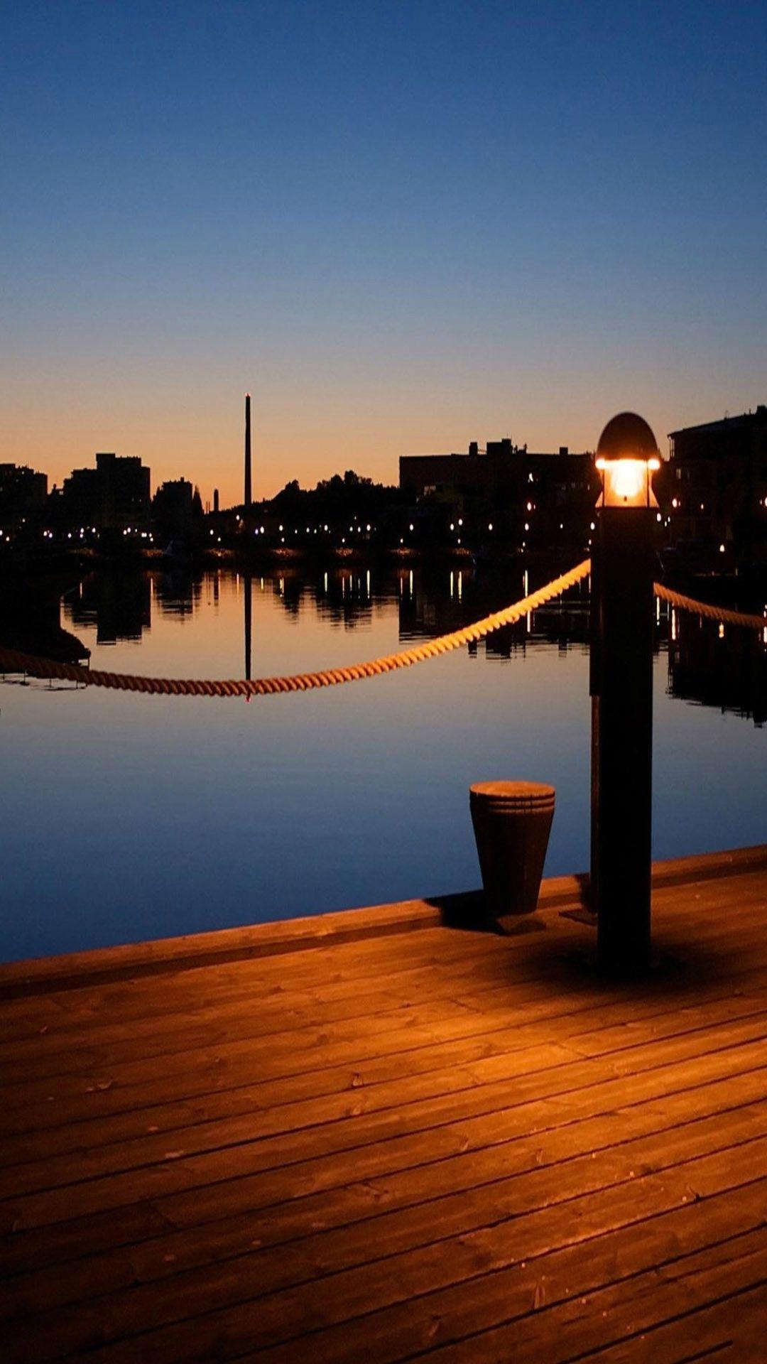 Wooden Pier Dusk Light iPhone 7 wallpaper Iphone 6