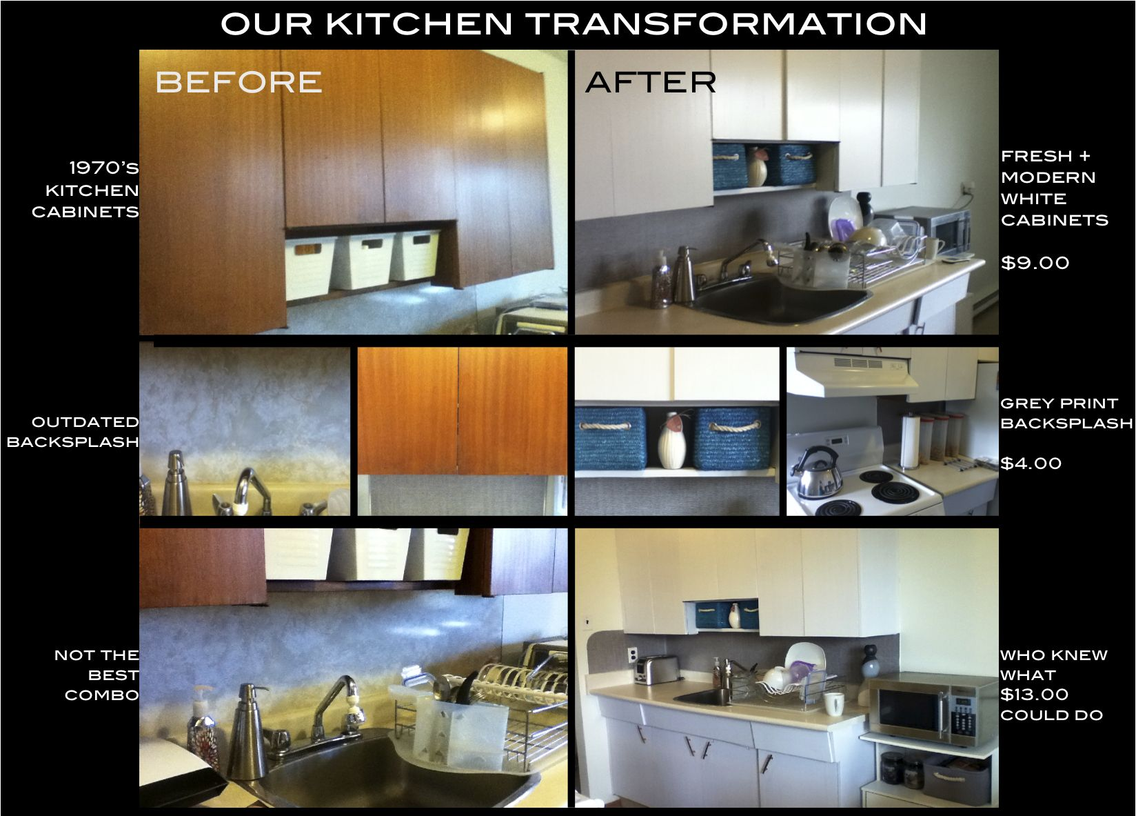 Contact Paper Backsplash Ideas Part - 43: Renou0027d Our Kitchen In Contact Paper For 13 Bucks! White Contact Paper For