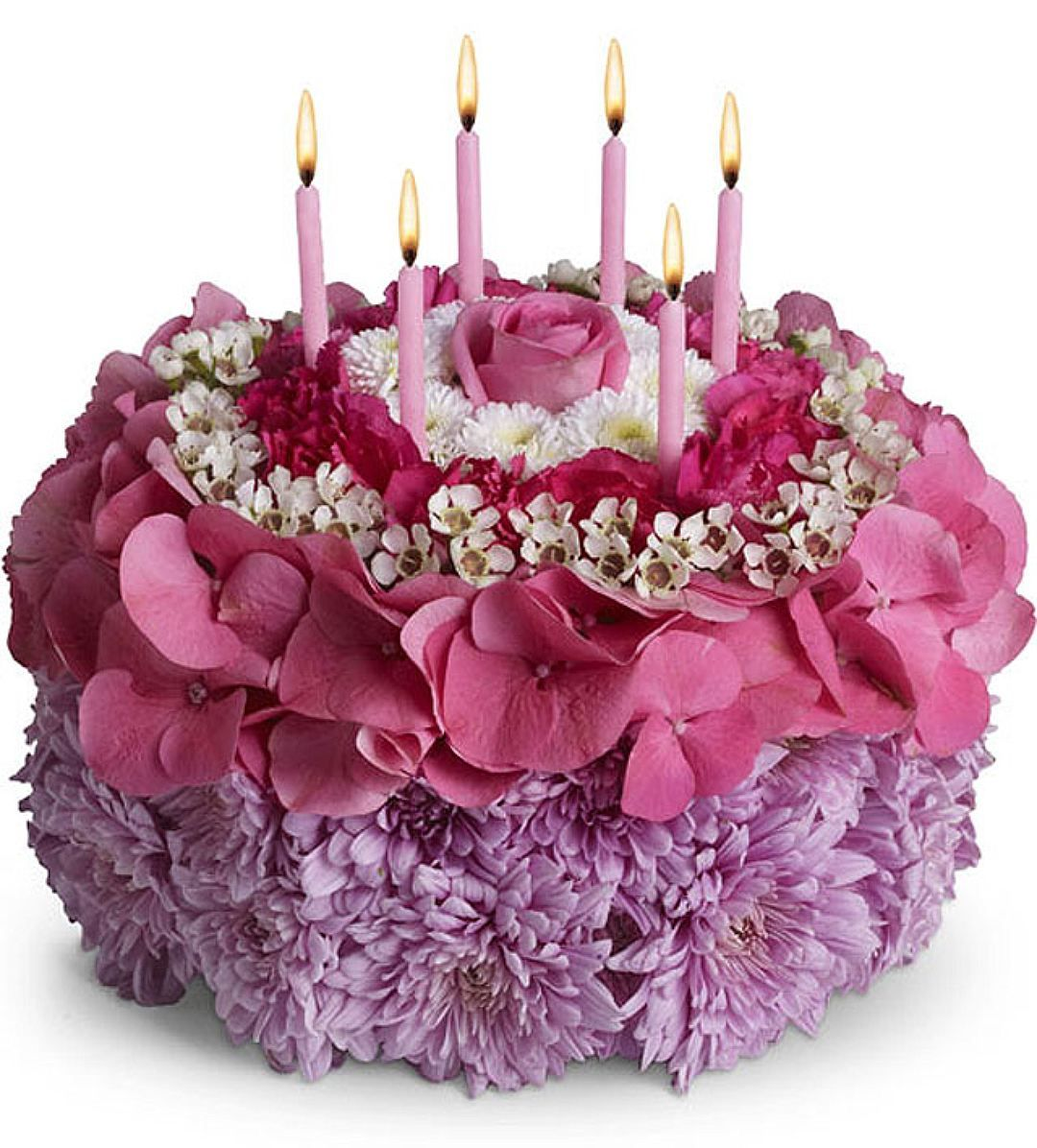 16 3 pinterest unique flower say happy birthday with the your special day birthday flower cake with candles from brant florist online worldwide florist same day delivery to usa and izmirmasajfo