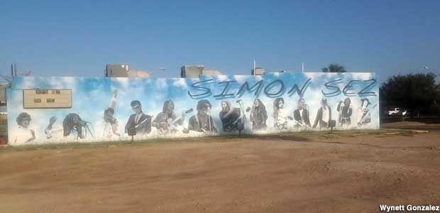 Mcallen Tx Rock N Roll Heaven Mural Mcallen Mural Rock N Roll