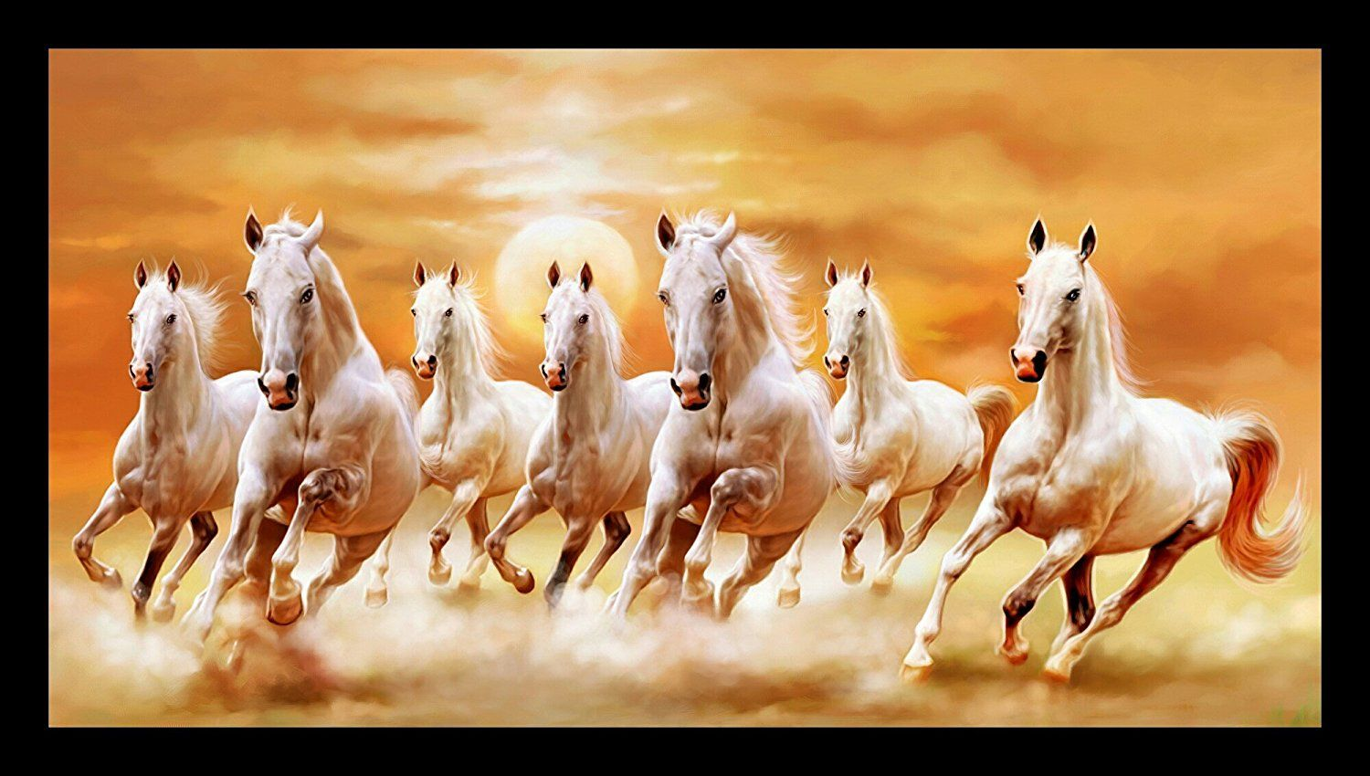 Download Seven Horses Hd Wallpaper White Seven Horses Painting And Search More Hd Desktop And Mobi Seven Horses Painting Horse Wallpaper White Horse Painting