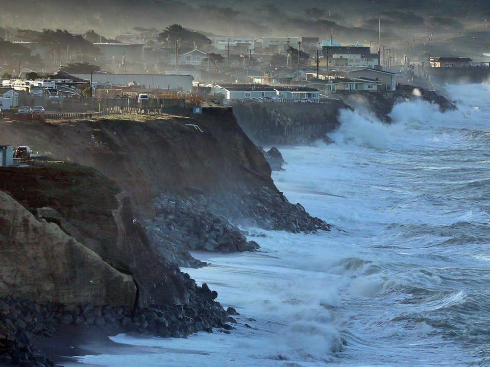 The California Coast Is Disappearing Under The Rising Sea Our Choices Are Grim California Coast Sea Level Rise California