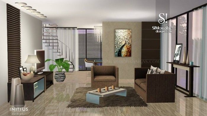 Initius Living Room Furniture By Simcredible Designs Sims 3 Downloads Cc Caboodle Sims