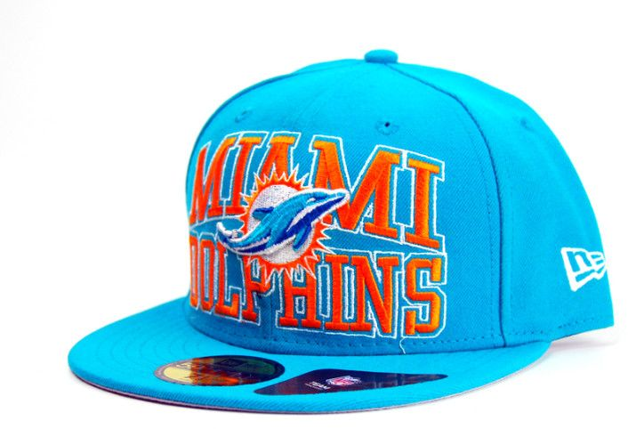 03d1570a4a8 New Era Logo Stack Miami Dolphins Cap - Green 59Fifty