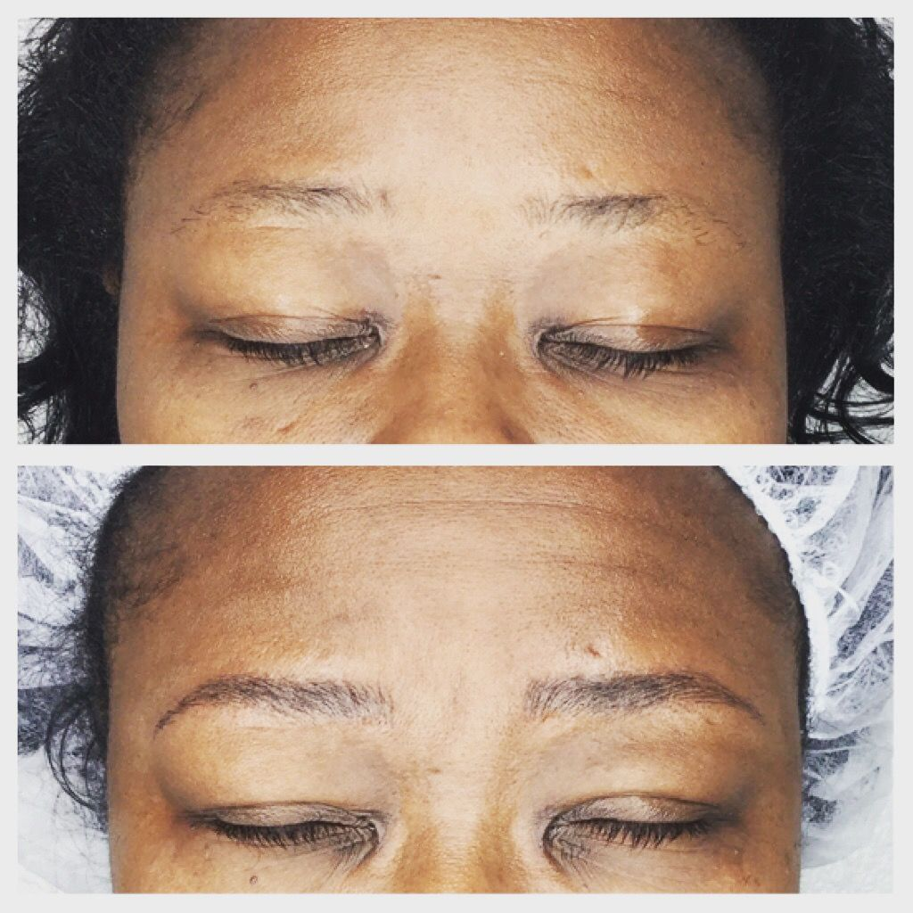 Beautifully natural Microblading before and after