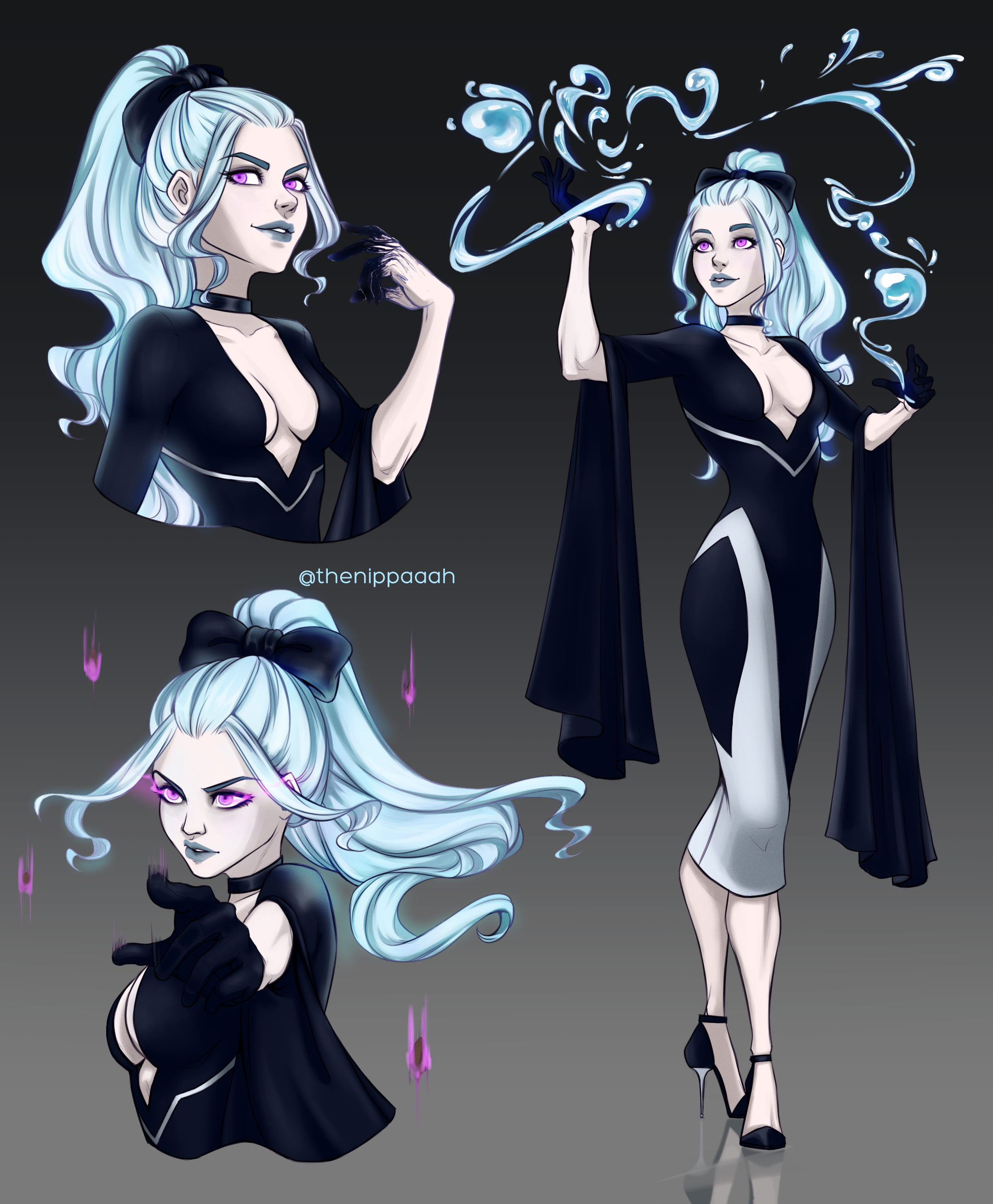 Made a character sheet for my new dnd5e warlock, Loire Cerise!