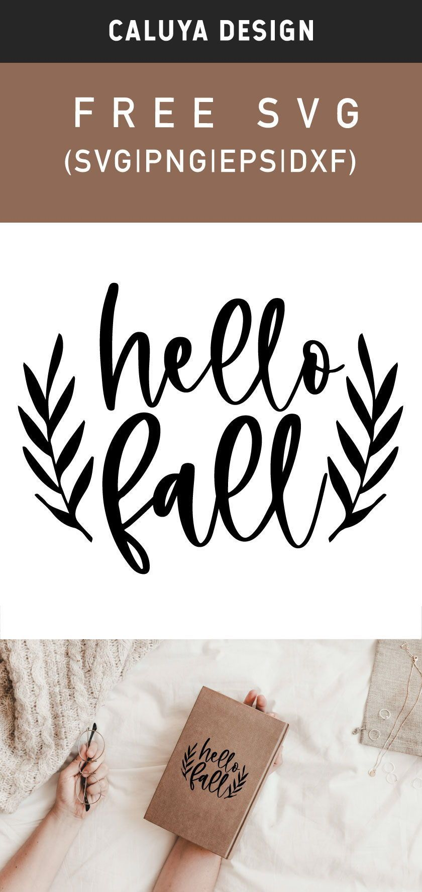 Free Hello Fall Botanical Svg Png Eps Dxf By Caluya Design In 2020 Hello Autumn Free Printable Clip Art Free Fall Printables