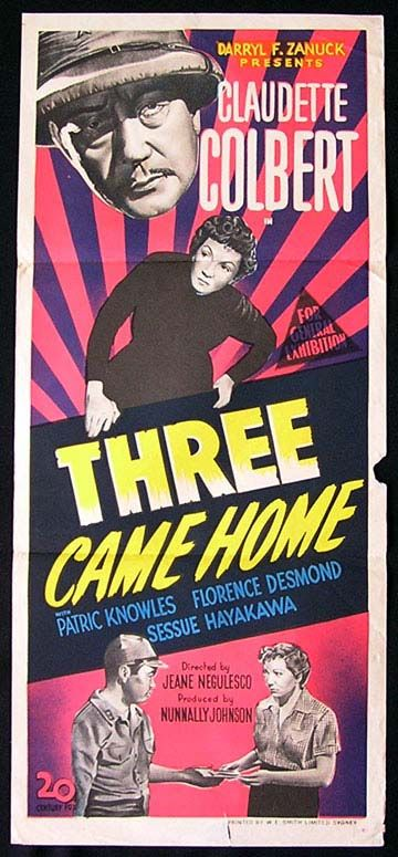 1171a6c5d6bd6 Claudette Colbert movie posters | THREE CAME HOME '50-Claudette  Colbert-poster -
