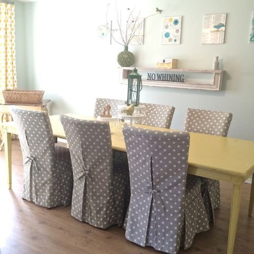 New parsons chair slipcovers for my dining room (Stop staring and ...