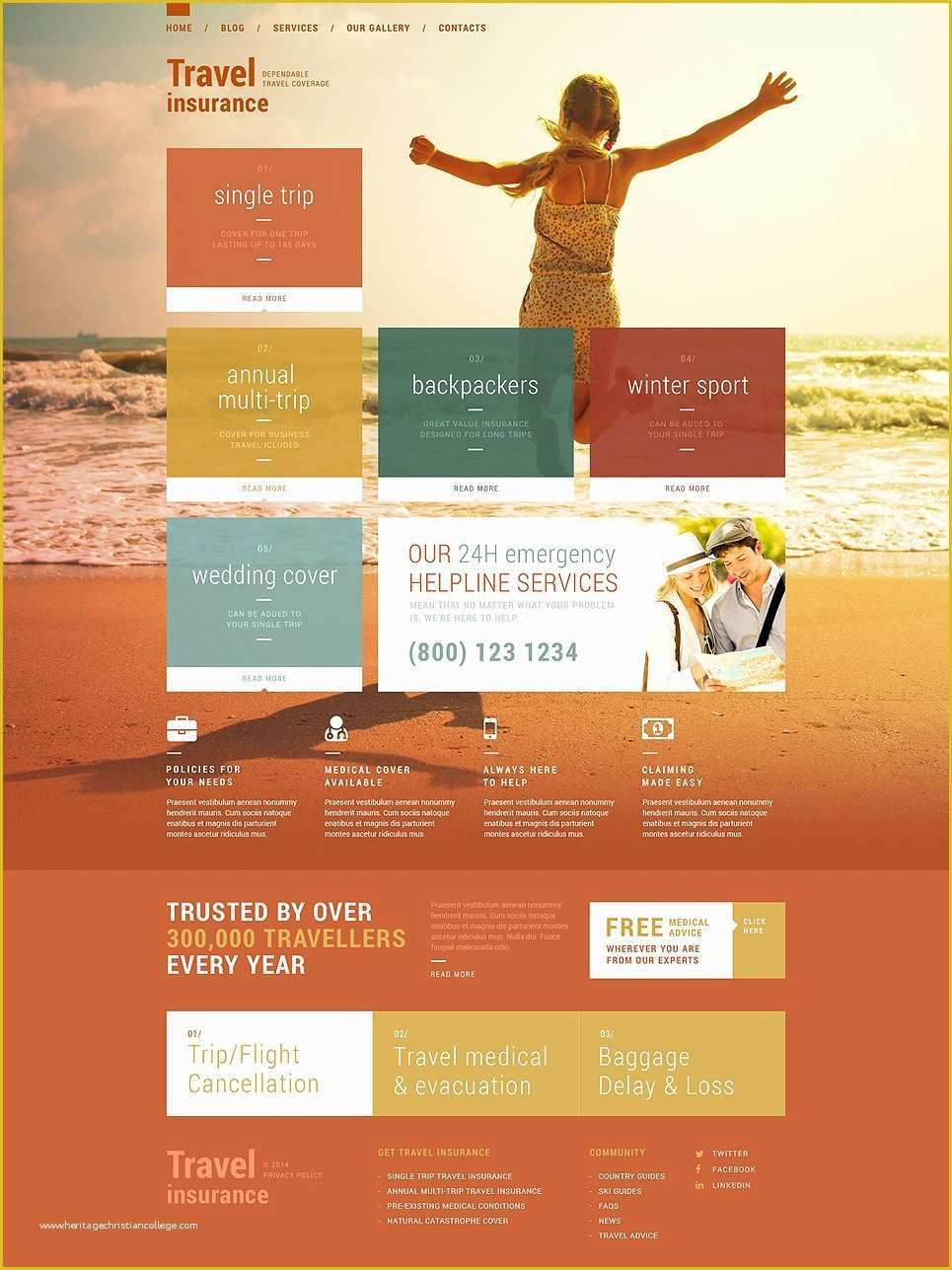 Responsive Life Insurance Website Design Added To