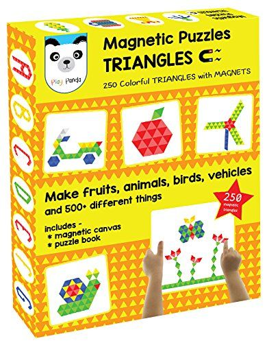 Toys and Games for Kids: Magnetic Puzzles : Triangles (250 colorful magnets...