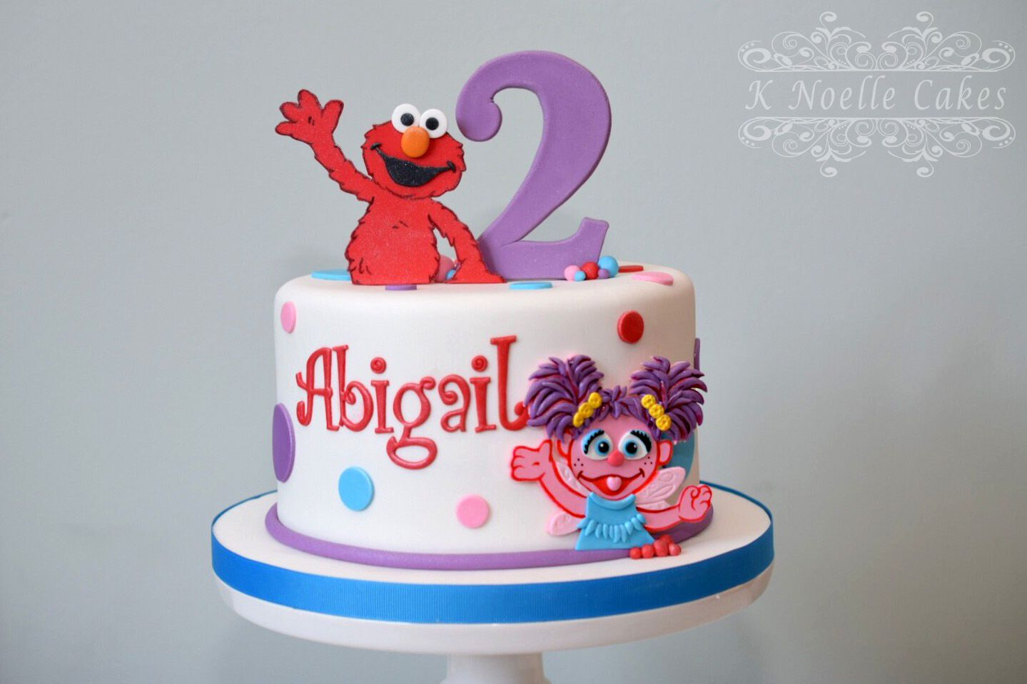 Sesame Street Elmo  Abby Cake By K Noelle Cakes Cakes By K - Elmo and abby birthday cake