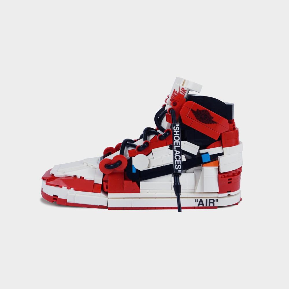 LEGO Air Jordan 1 Off-White | Etsy | Air jordans, Nike air shoes ...