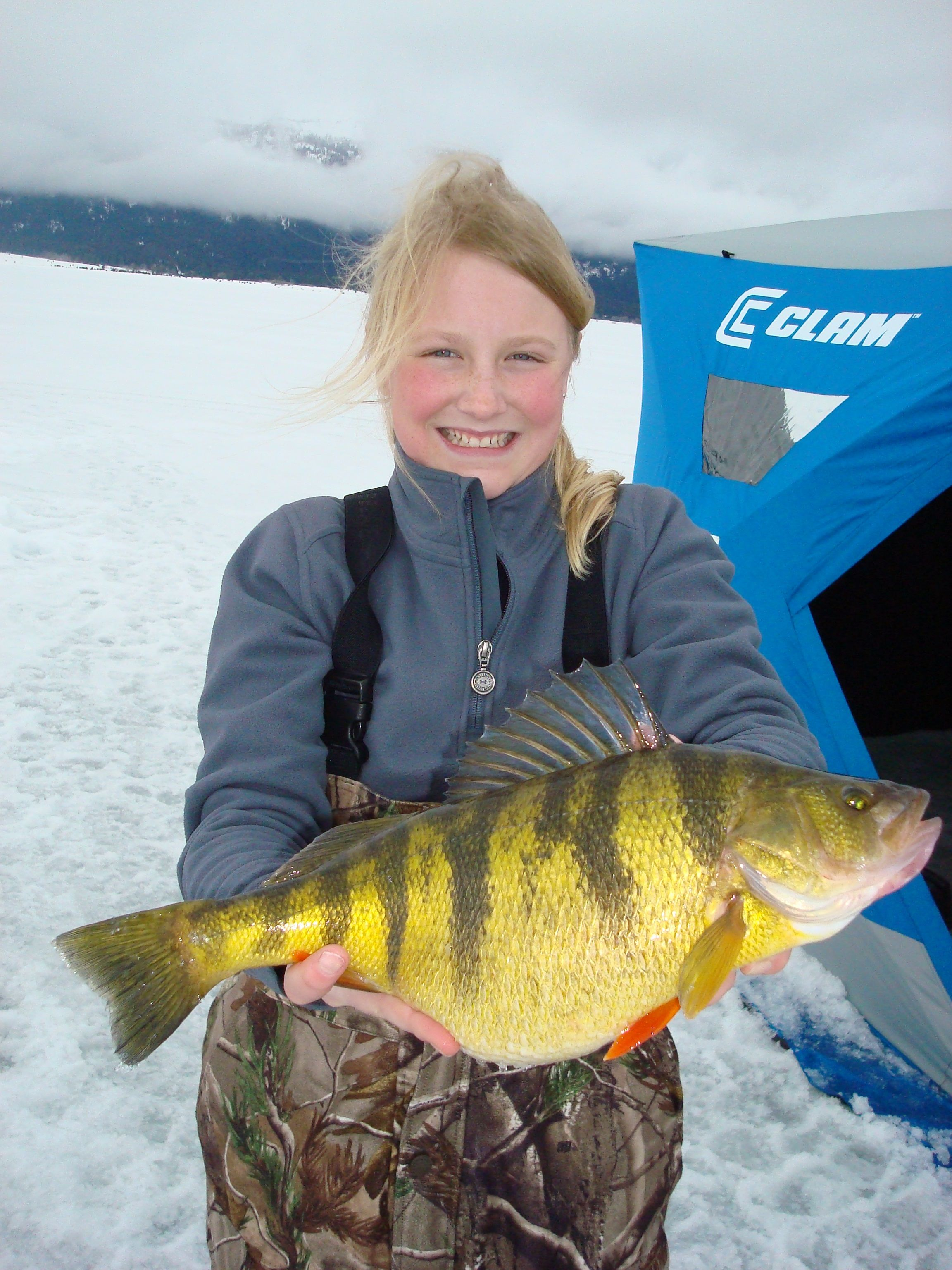 World Record Perch- #girlsrule!!! How many benchmarks can someone make in one event!?! And I usually tease people that catch perch!