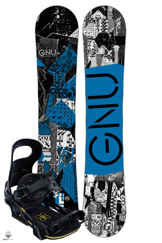 Komplet Snowboardowy Deska Wiazania Gnu Carbon Credit 159 Multi Gnu Carbon Snowboard
