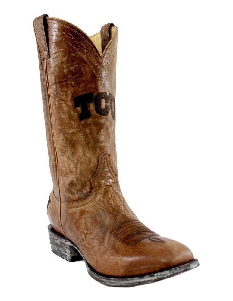 23b39942a29 Texas Christian Mens Gameday Boots Square Toe Size 11 D TCU-MHT2019 ...