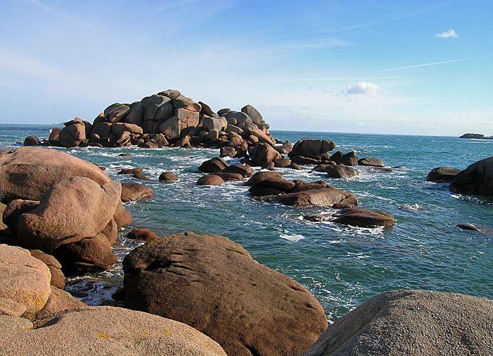 randonnée sur la côte de granit rose (Bretagne)