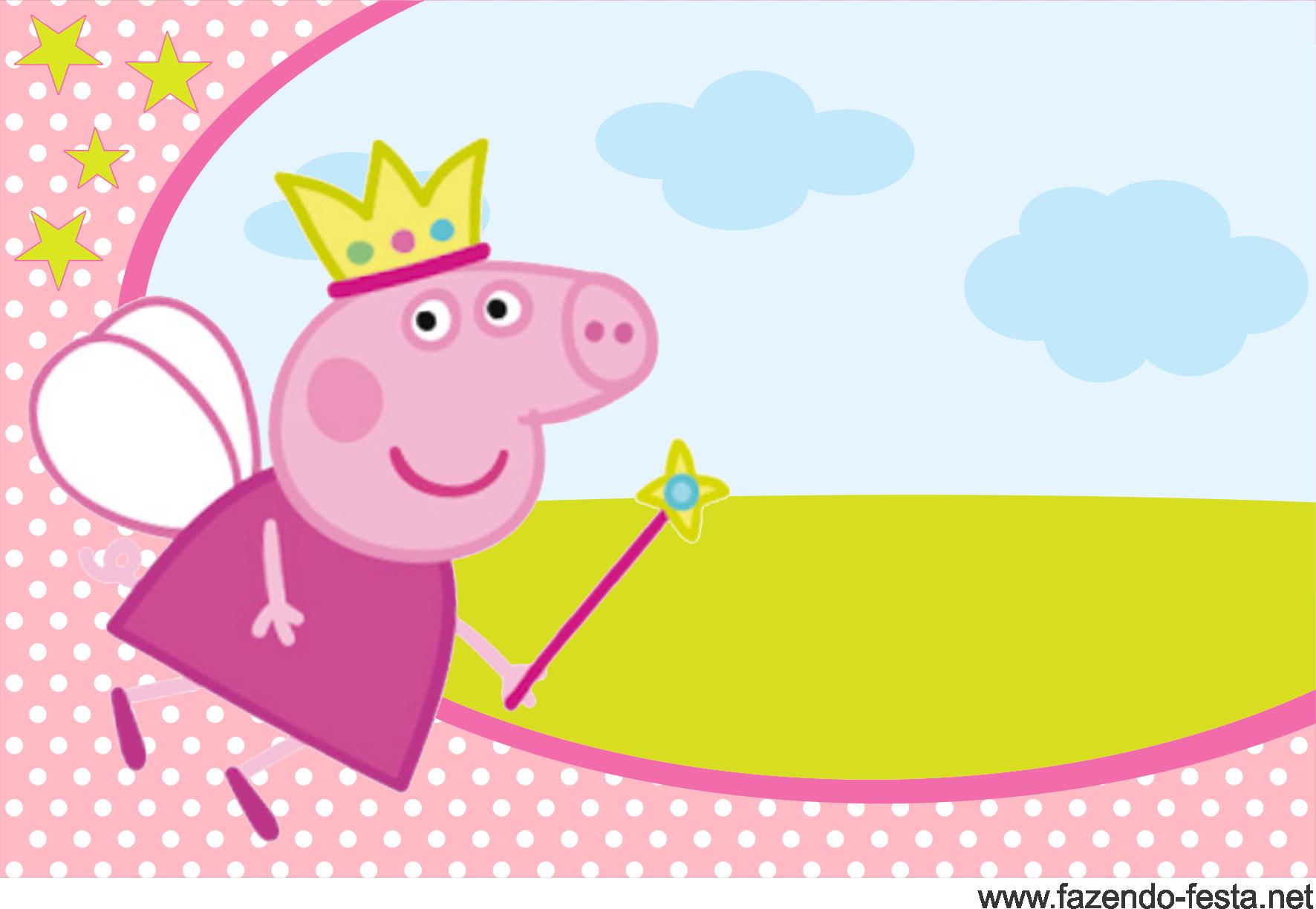 Fotos De Convite Aniversario Da Peppa CONVITE PEPPA PIG Prontos Para  Imprimir