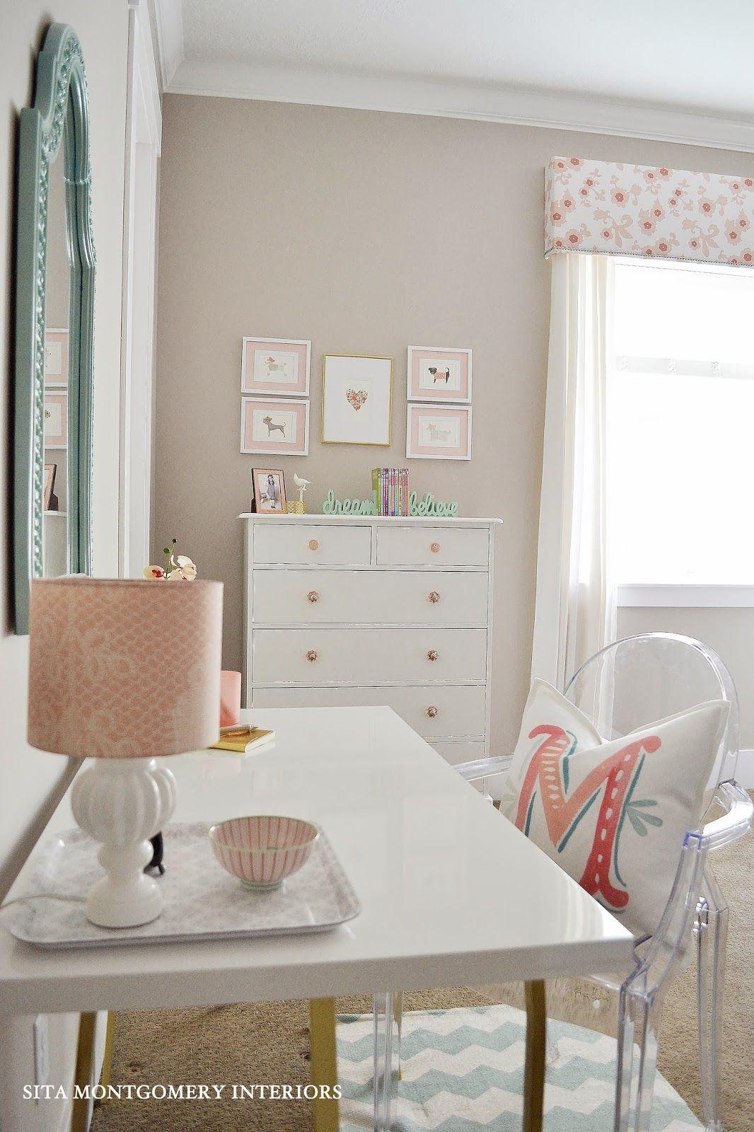 From Junk Room To Beautiful Bedroom The Big Reveal: Sita Montgomery Interiors: My Home: Tween Bedroom Reveal