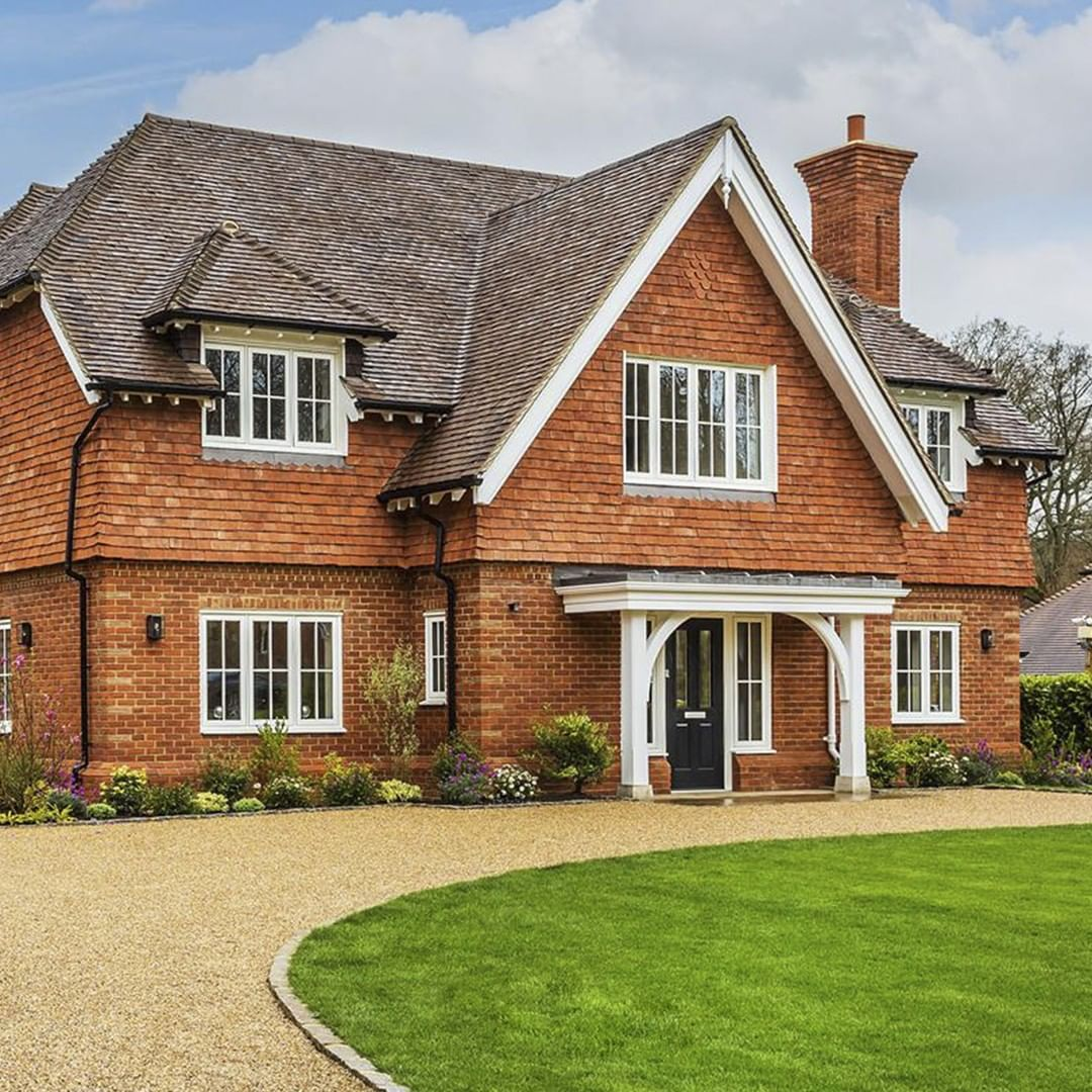 Our Timberlook Flush Windows Add Authenticity To New Build Properties In Areas With Heritage And Characte Dream House Exterior House Cladding Self Build Houses