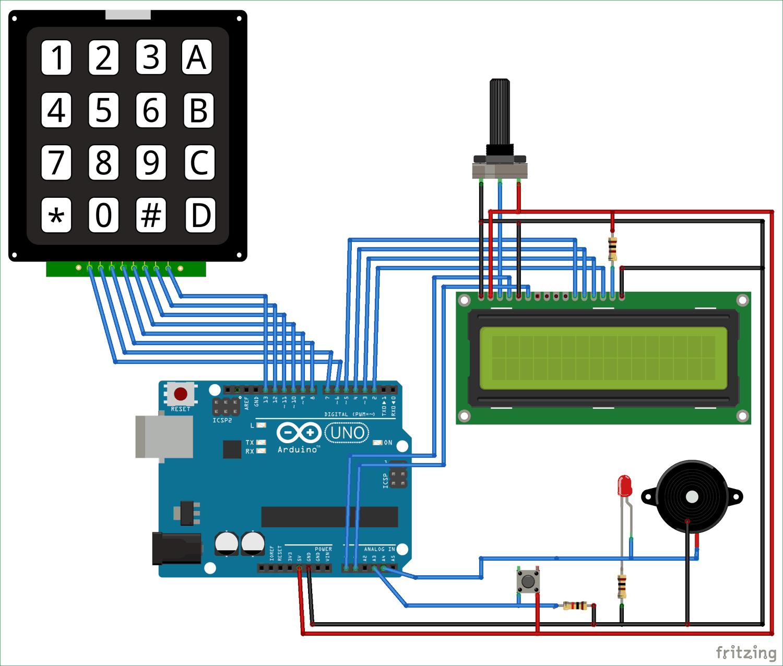 arduino based countdown timer circuit diagram