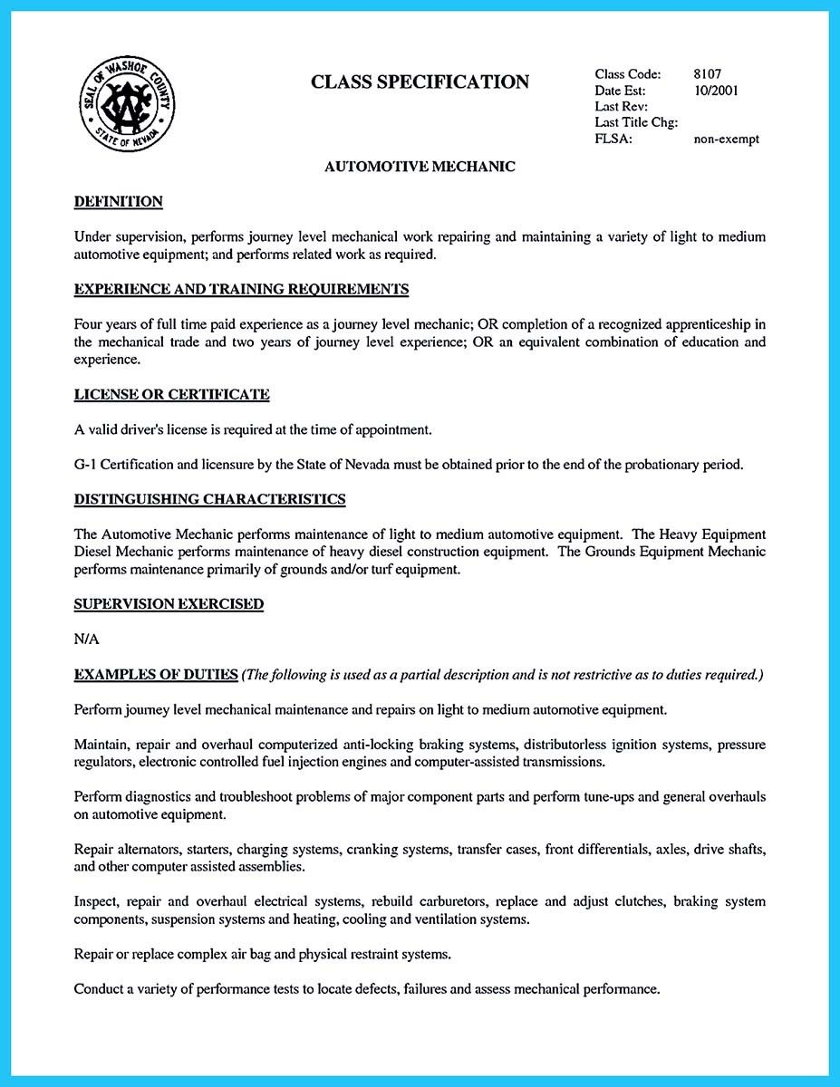 Technician Resume Cool Writing A Concise Auto Technician Resume Check More At Http