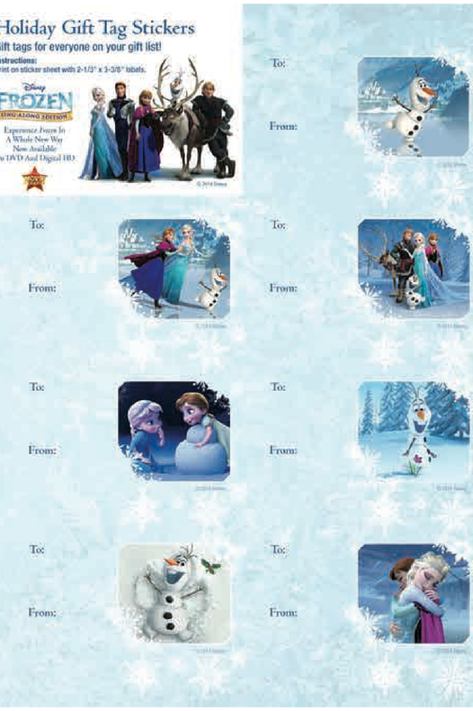 Frozen Christmas Gift Tags Printable | Kids Activities & Crafts ...