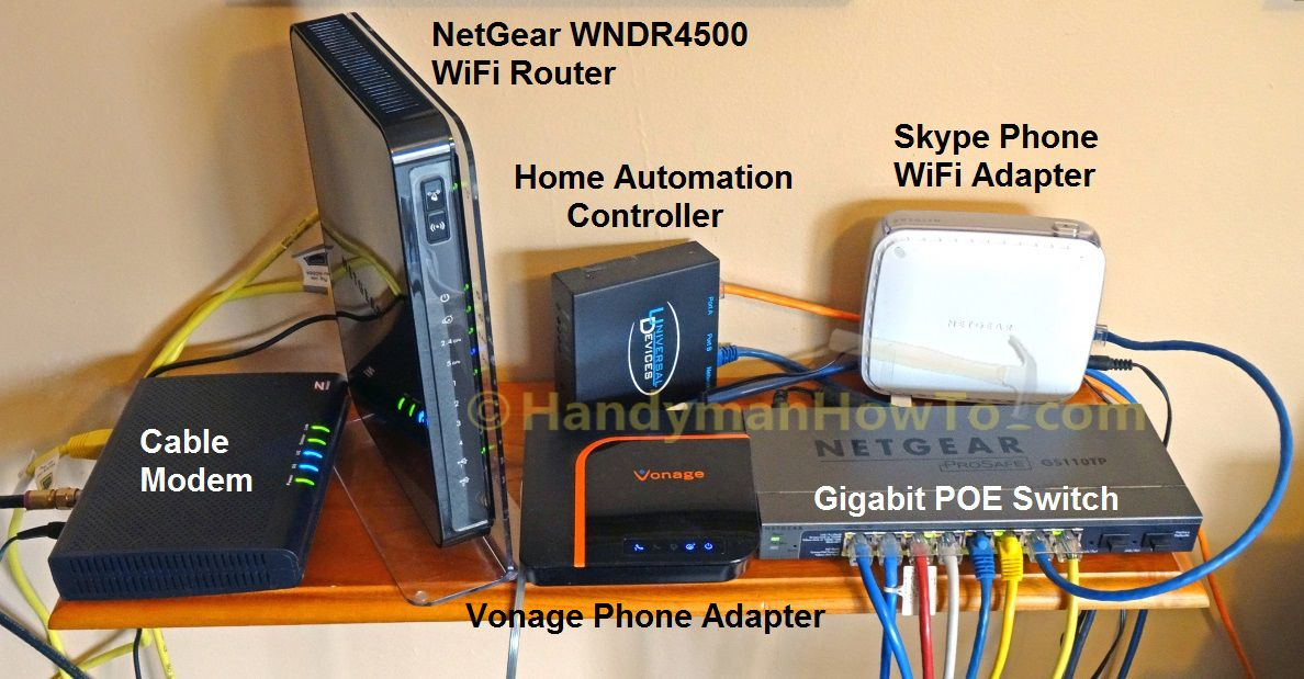 64037d86c74246efcae3b9e6180802ff home networking gear cable modem, wifi router and gige poe wiring a home network diagram at reclaimingppi.co