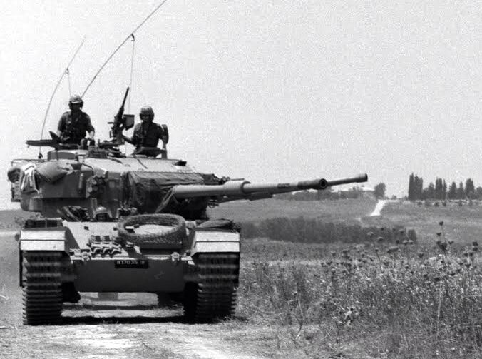 Israeli Armor Goes Into Action During The Six Day War