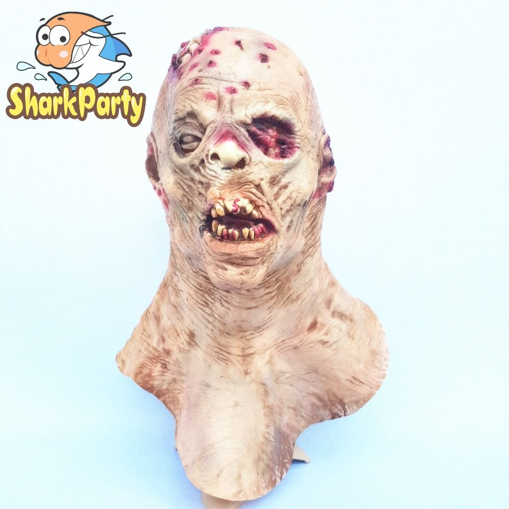 Creepy Blood Mouth Zombie Latex Mask Horror Halloween Party Gift Favor