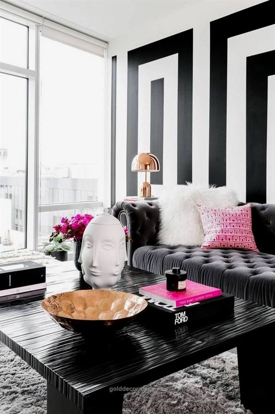 See more images from an entire apartment in black  white and why it works home decor designs also best house living room lunch rh pinterest